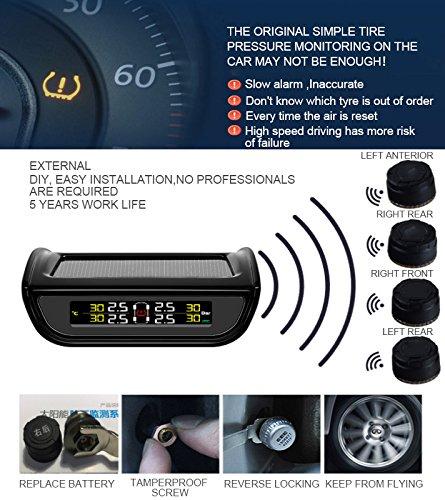beishuo automático de inalámbrico de energía sensores externos de presión de los neumáticos sistema de vigilancia