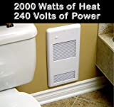 Bathroom Heater High Quality Bathroom Wall Heater Pulsair 2002TW White: Heats a true 200 sq. feet, ultra-quiet electric wall heater for any small room. Safe and reliable 240 volt 2000 watts with a built-in easy to use thermostat. Grille with a safe rounded corners