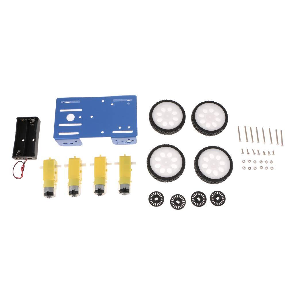 SM SunniMix Kit Di Accessori Auto Intelligenti Telecomando Quattro Ruote Per Arduino Nero