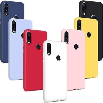Oferta amazon: Coqin 7X Funda para Xiaomi Redmi Note 7/ Note 7 Pro, Carcasa Suave Protective Silicona Goma Suave Delgado TPU Anti-rasguño Resistente Caso (Rojo + Rosa + Púrpura + Amarillo + Blanco + Negro + Azul)