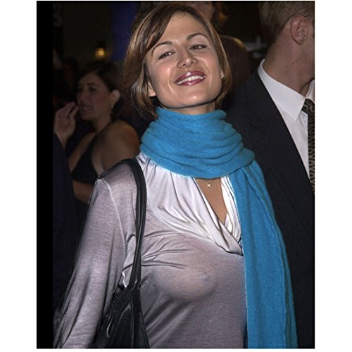 catherine-bell-8x10-photo-jag-army-wives-smiling-braless-in-thin-white-shirt-w-blue-scarf-kn