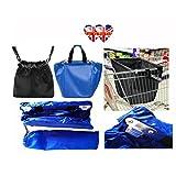 2 Trolley Bags (Blue&Black) Reusable Shopping Bag (Same Day Dispatch)