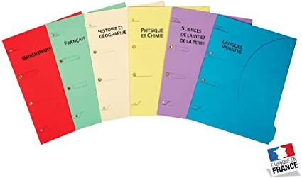 Pack de 6 escolares.: Amazon.es: Oficina y papelería