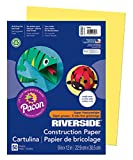 Pacon Construction Paper, 9-Inches by 12-Inches, 50-Count, Yellow (103592)