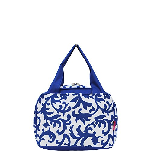 N. Gil Insulated Lunch Bag Collection 3 (Damask Royal Blue)