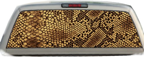 Snake Skin- 17 Inches-by-56 Inches- Compact Pickup Truck- Rear Window Graphics ()