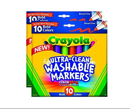Crayola Ultraclean Broadline Markers 2 Pack