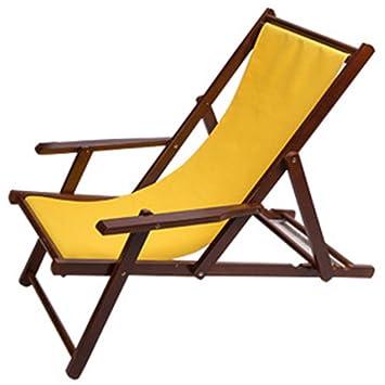 Silla de playa para exteriores, silla reclinable plegable de ...