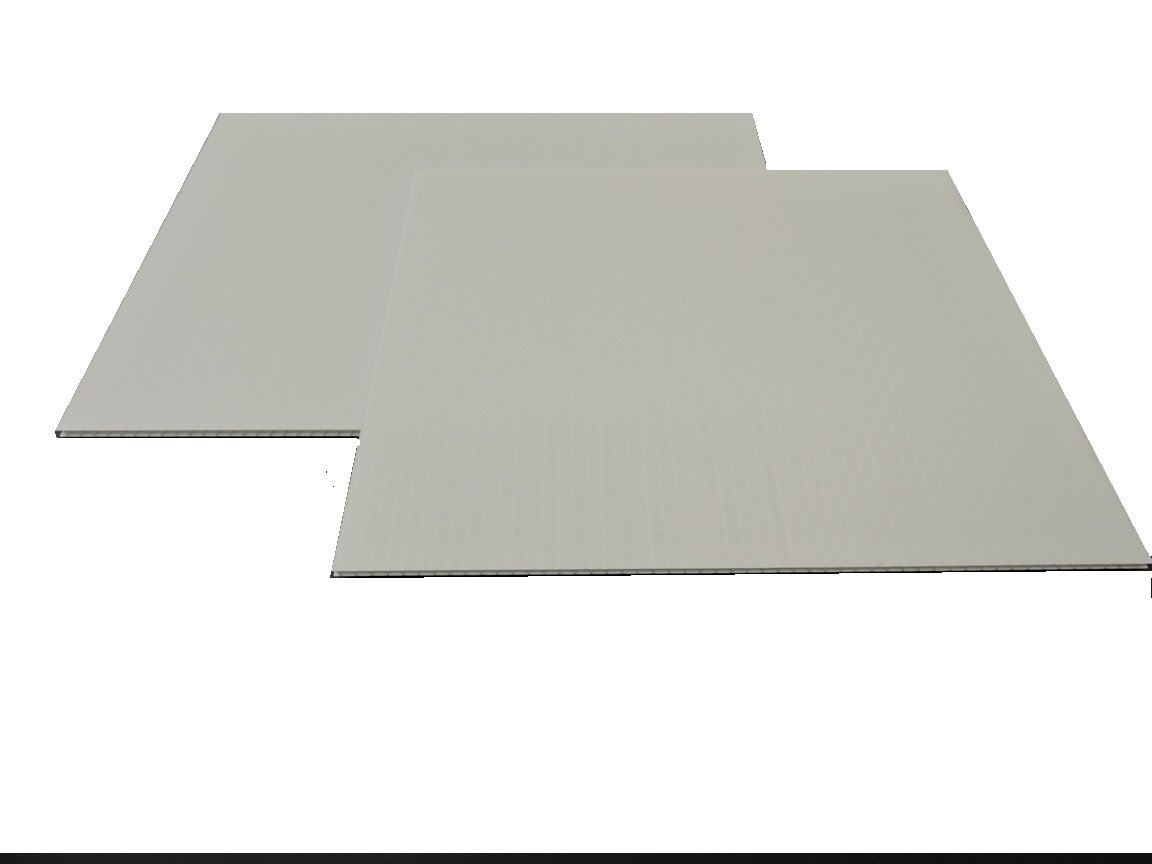 Corrugated Plastic 4mm White Boards - 24''x36'' (10 sheets)