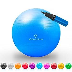Gymnastik-Ball »Pluto« / Robuster Sitzball und Fitnessball / 75 cm / blau