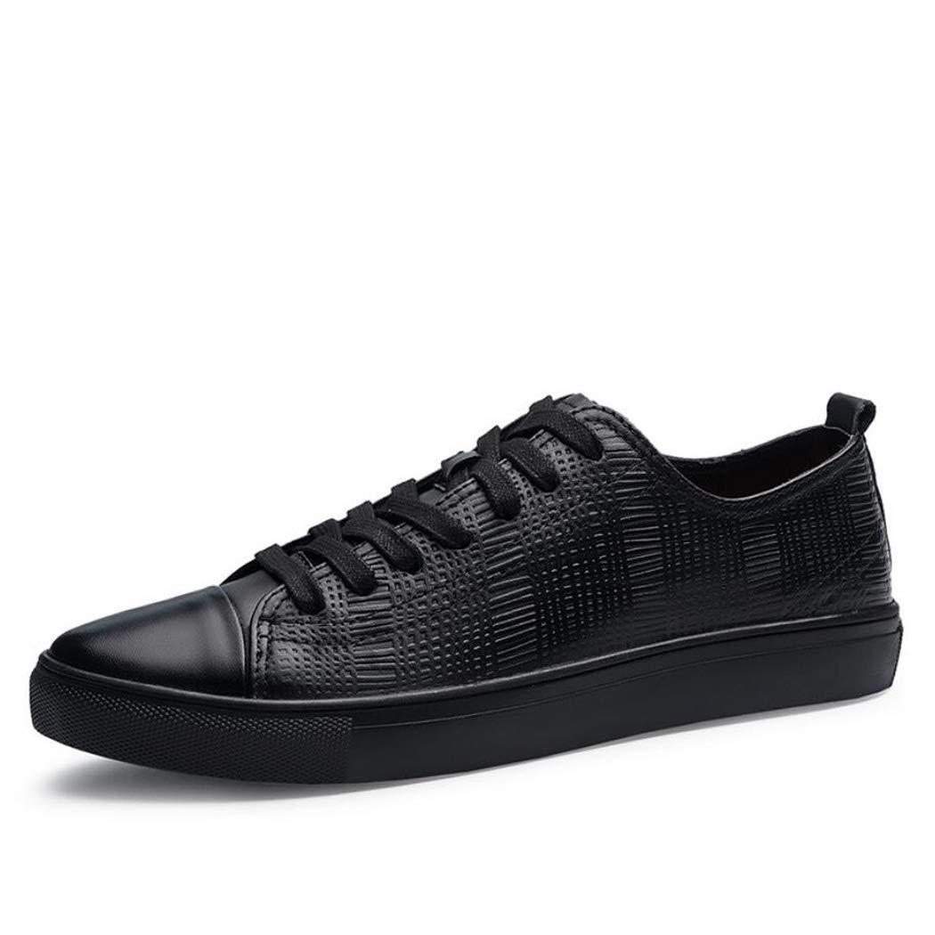 Zxcvb Herren Freizeitschuhe Herbst und Winter Mode Schuhe Outdoor Low-Top Gürtel PU Business Schuhe