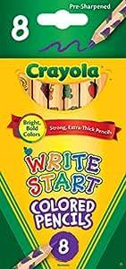 Crayola 8ct Write Start Colored Pencils