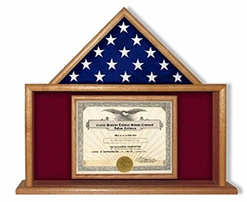 USMC-Flag-Certificate-Display-Case-is-available-in-either-a-solid-oak-display-case-or-walnut-flag-display-case