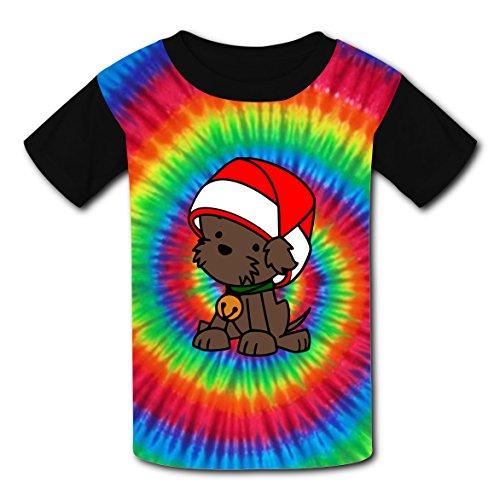 BYTimz Random Dyeing Rainbow T-shirts Printed Round Neck Tee Shirts for Boys Girls S -