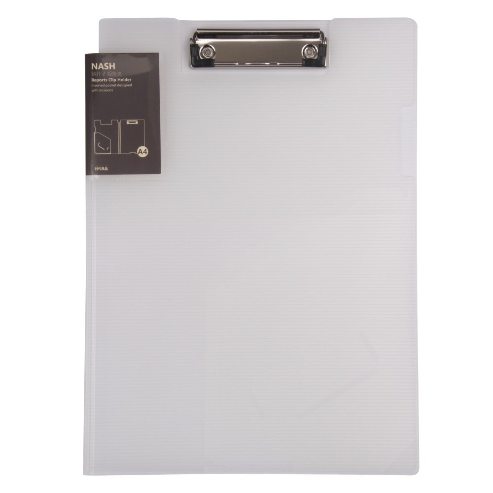 File Folder Clipboard Letter Size Arch File Cover Folder Clipboard Storage with Metal Clip Paper Writing Pad Holder Padfolio Documents Organizer Pad Portfolio Business School Office Conference