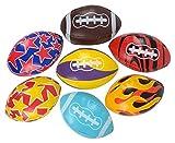 Rhode Island Novelty 3.5'' Soft Stuff Football Assortment Toy Activity and Play Balls