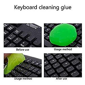 Keyboard Cleaning Adhesive, Dust Cleaning Glue for Computer iPad PC Laptop Car Air Vent Home Use - 3 Pack (Radom Color)