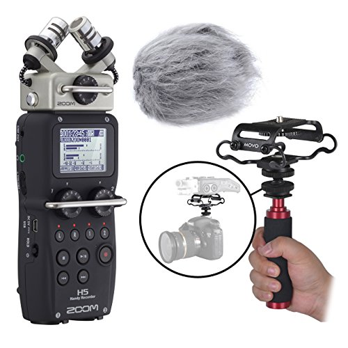 (Zoom H5 Four-Track Handy Recorder Kit with Deadcat Windscreen, Shockmount, Camera Mount and Mic)