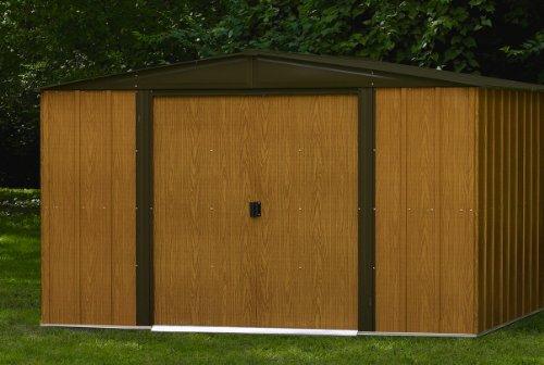 Chalet-Jardin WL106 Galvanized Steel Shed Brown 313 x 181 x 185 cm ...