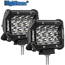 "LED Light Bar Rigidhorse Triple Row 2 Pcs 4"" 38W LED Spot Lights Off Road Lights Jeep Lights Driving Lights LED Work Light for SUV Trucks Lights With Slideable Mounting Bracket"