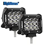 "LED Light Bar Rigidhorse Triple Row 2 Pcs 4"" 38W LED Spot Lights Off Road Lights Jeep Lights Driving Lights LED Work Light for SUV Trucks Lights With Slideable Mounting Bracket"