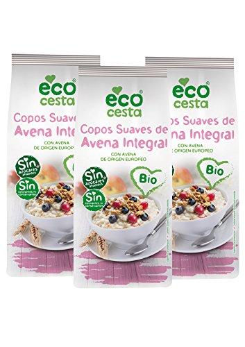 Ecocesta Copos de Avena Suave Integral - Paquete de 3 x 500 gr - Total: 1500 gr: Amazon.es: Alimentación y bebidas