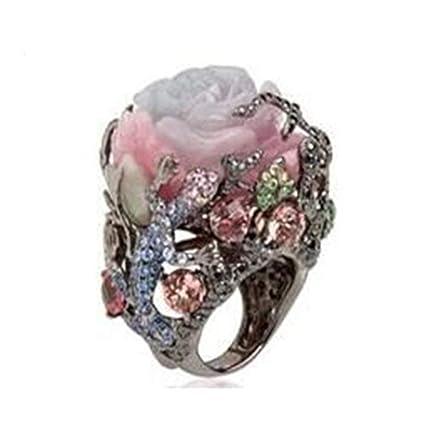 Bohemian Pearl Rings,Futemo Fashion Diamond Ring Gold Silver Comfort Band Wedding Statement Jewelry for Women Girl