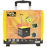 Ultra Compact Quik Cart Two-Wheeled Collapsible Handcart with Lid Rolling Utility Cart