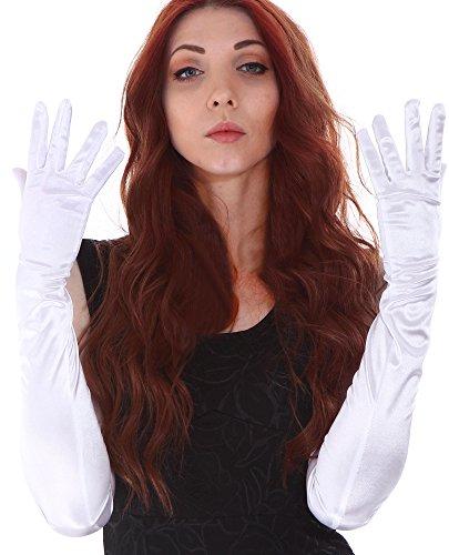 Simplicity Womens Opera Satin Gloves