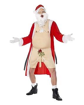 offe nherziger Santa Disfraz con rama de muérdago AM Pene ...