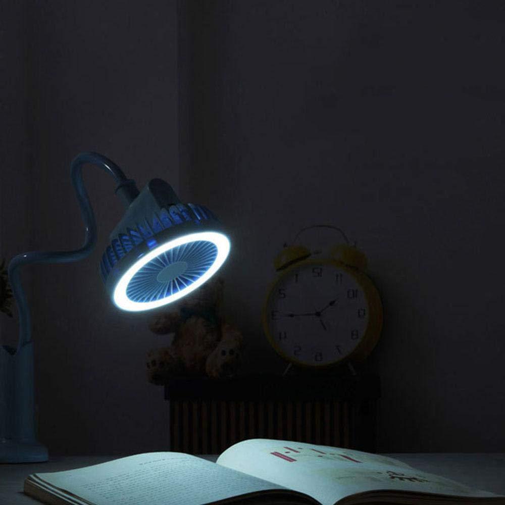 Mini USB Fan Tragbare Flexible L/üfter K/ühler Schwanenhals USB Tragbarer Clip auf Kinderwagenventilator Silent Flexibel Flexibel Flexibel Mini Flexibel mit LED-Licht Blau Umiwe Mini Ventilator
