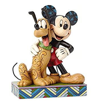 Disney Traditions by Jim Shore Mickey Mouse and Pluto Stone Resin Figurine, 6