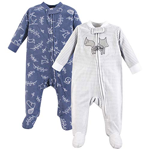 Yoga Sprout Fleece Sleep and Play, 2 Pack, Forest, 6-9 Months