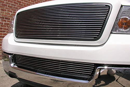 Grillcraft FOR1306-BAO BG Series Polished Aluminum Upper 1pc Billet Grill Grille Insert for Ford F150