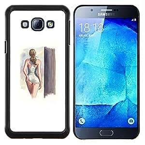 EJOOY---Cubierta de la caja de protección para la piel dura ** Samsung Galaxy A8 A8000 ** --lencería sexy traje de baño modelo muchacha mujer