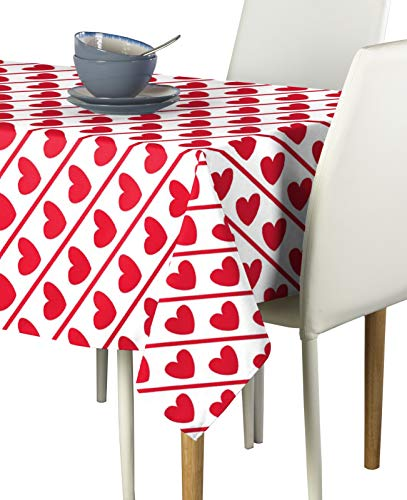Fabric Textile Products, Inc. Hearts Diagonal Stripe Milliken Signature Tablecloths - Assorted Sizes (60