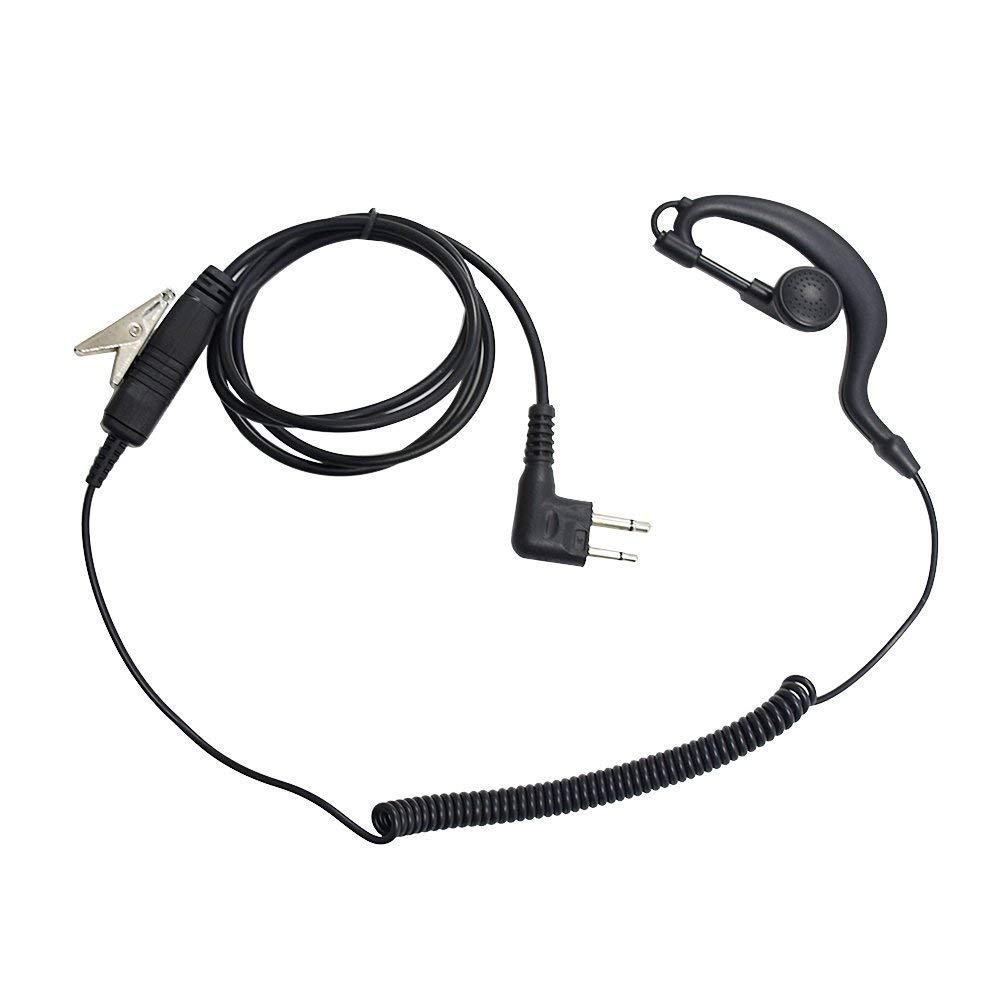 Mヘッドイヤホン ヘッドセット PTTマイク付きイヤホン 2ピン モトローラ 双方向無線機用 1個 B07JZBFMHQ