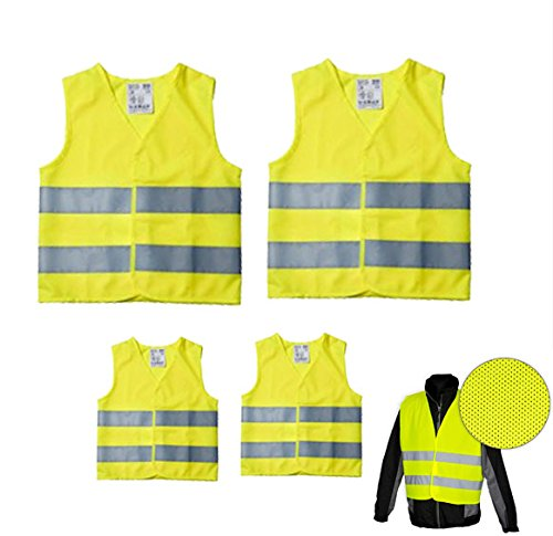 High Visibility Vest Family Set of 4  2  x Adults & 2  x Children's High Visibility Vest EAN 471 Robex