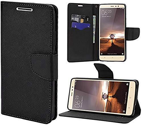 Spario Flip Cover for Samsung Galaxy On7 Pro  Black