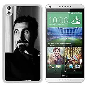 Beautiful Designed Cover Case With Serj Tankian Mustache Beard Jacket Armchair (2) For HTC Desire 816 Phone Case