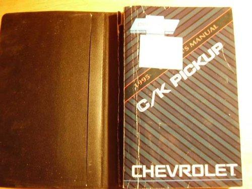Chevrolet C/k Truck Owners Manual - 1995 Chevrolet CK Pickup Truck Owners Manual