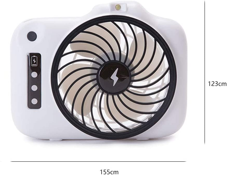 ornerx USB Rechargeable Desk Fan Cute Camera