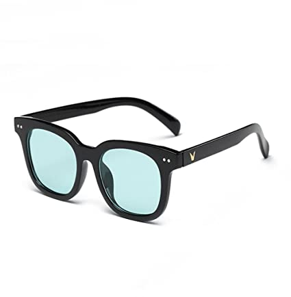 Z&YQ Lentes de Color Gafas de Sol Retro clásica Serie de Gafas de Lentes Cuadrados de