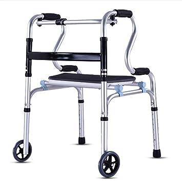 QINAIDI Andador Plegable Compacto y Ajustable, Ayuda de ...
