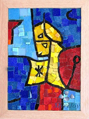 "Modern art Mosaic kit DIY Astral Sentinel Paul Klee 9""x12.5"" High quality Venice-Murano glass mosaic tiles - Mosaic wall art - Arts and Craft kit for adults - Different gift ideas - Cubism art from MyriJoy"