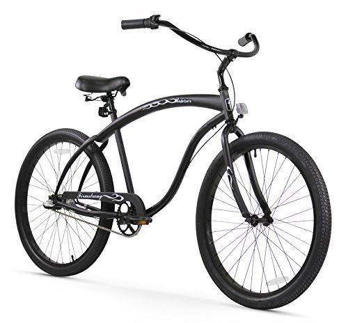 Firmstrong Bruiser Man Three Speed Beach Cruiser Bicycle 26-Inch Matte Black [並行輸入品]   B072Z83LY8