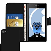 iTALKonline Sony Xperia E3 D2203 D2206 D2243 D2202 Black PU Leather Executive Multi-Function Wallet Case Cover Organiser Flip with Credit / Business Card Money Holder
