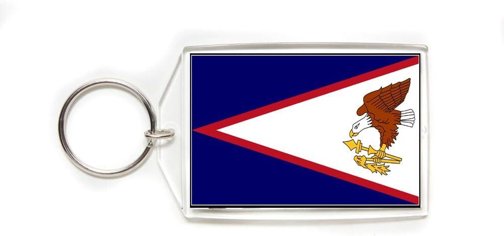 American Samoa Flag Double Sided Acrylic Key Ring Large