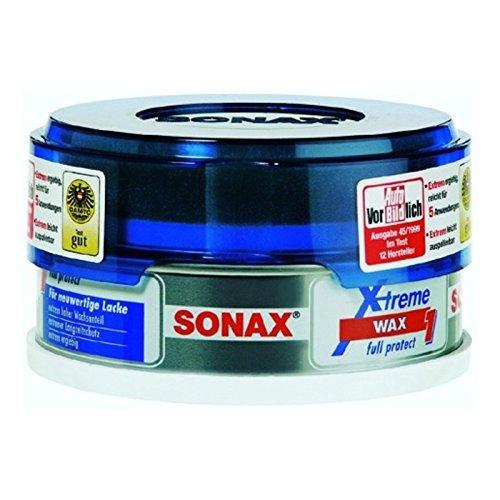 SONAX 216200 XTREME Wax (Hartwachs ohne Schleifmittel mit Carnaubawachs), 150ml, inkl. Applikationsschwamm