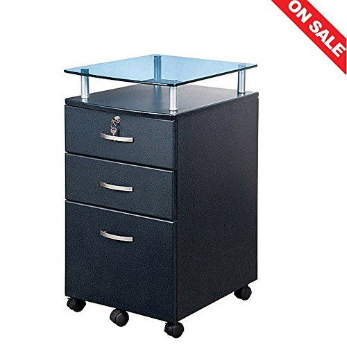 Rolling Lockable File Cabinet Shelf Legal File Cabinet Rolling File Filing Vertical with Key Filing Organizer Drawers Office Furniture Indoor House Home Store & Ebook By Easy2Find by STS SUPPLIES LTD